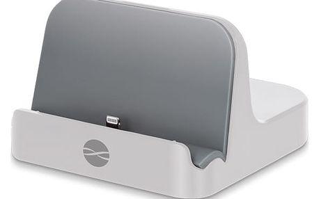 Nabíjecí stojánek Forever PDS-02 MFI pro Apple iPhone 5/6 (ATCAPIP5DSMFITFWH) bílý