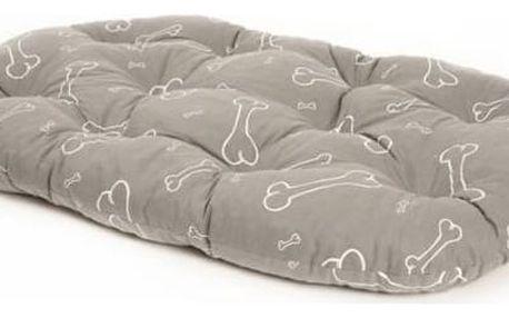 Samohýl Kost ovál bavlna - šedo/bílý 120 cm šedý/bílý