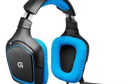 Headset Logitech Gaming G430 (981-000537) modrý + Doprava zdarma