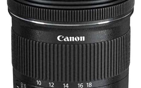 Objektiv Canon EF-S 10-18mm f/4.5-5.6 IS STM + EW73C + LC kit (9519B009) černý + DOPRAVA ZDARMA