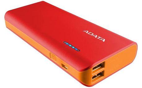 Power Bank ADATA PT100 10000mAh (APT100-10000M-5V-CRDOR) červená/oranžová