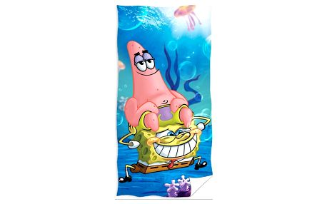TipTrade Osuška SpongeBob a Patrick, 70 x 140 cm