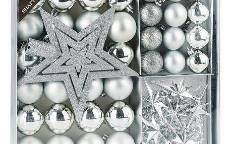 Vánoční set Luxury stříbrná