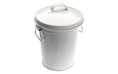Bílý odpadkový koš Versa Con Tapa, 3l