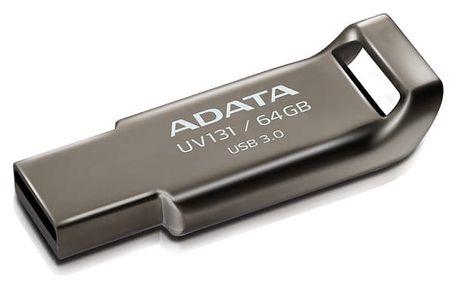 USB Flash ADATA UV131 64GB (AUV131-64G-RGY) kovový USB 3.0