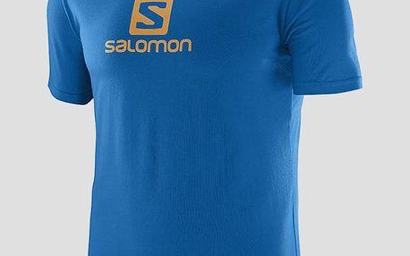 Tričko Salomon COTON LOGO SS TEE M Prince Blue Modrá