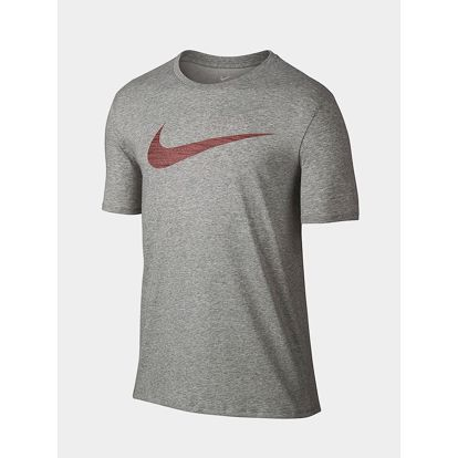 Tričko Nike M NK DRY TEE DF SWOOSH HTR Šedá