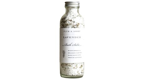 PLUM & ASHBY Koupelová sůl s levandulí, bílá barva, sklo
