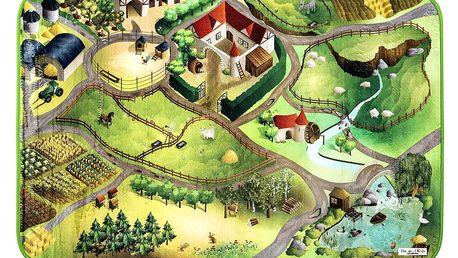 Vopi Dětský koberec Ultra Soft Farma