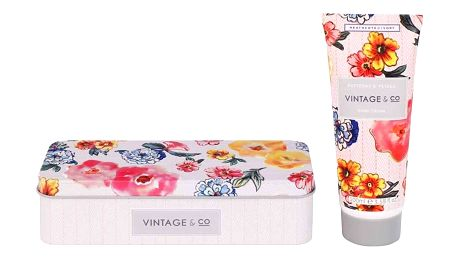 HEATHCOTE & IVORY Krém na ruce v kovové krabičce Patterns & Petals 100 ml, růžová barva, oranžová barva, multi barva, kov, plast