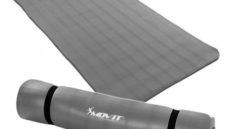 MOVIT 9614 Jóga podložka na cvičení 190 x 100 x 1,5 cm šedá