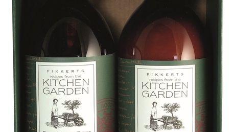 FIKKERTS Dárková sada kosmetiky na ruce Kitchen Garden, zelená barva, hnědá barva, plast