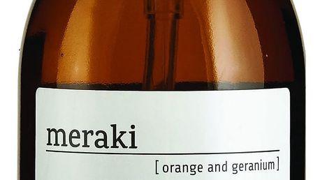 meraki Olej na tělo a vlasy Orange & geranium - 500 ml, hnědá barva, sklo