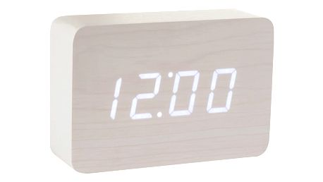 Bílý budík s bílým LED displejem Gingko Brick Click Clock - doprava zdarma!