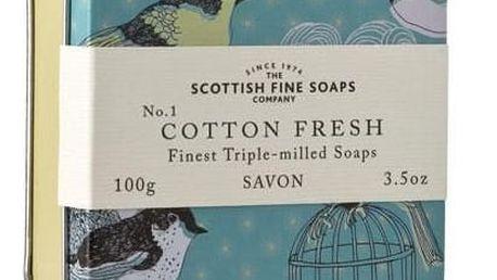 SCOTTISH FINE SOAPS Mýdlo v plechové krabičce - BAVLNA, béžová barva