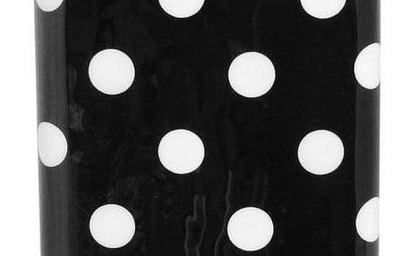 Černo-bílá dóza na kávu Strömshaga Dagny Small Dots