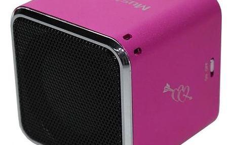 Přenosný reproduktor Technaxx Mini MusicMan (3531) růžový
