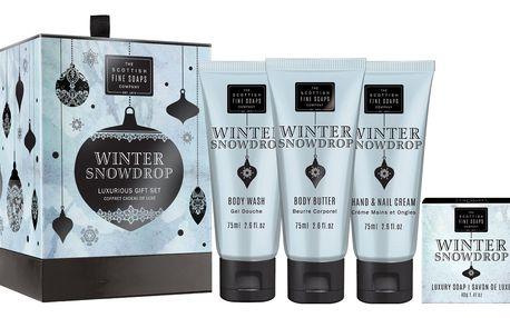 SCOTTISH FINE SOAPS Dárkový set kosmetiky Winter Snowdrop, modrá barva, papír