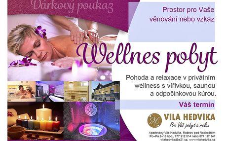 Wellness pobyt Beskydy Valašsko Vila Hedvika*** Rožnov pod Radhoště..., Zlínský kraj, Česká republika, vlastní doprava, bez stravy