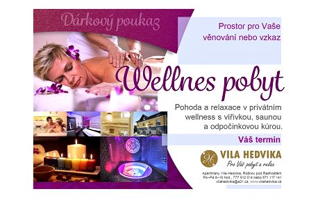 Wellness pobyt Beskydy Valašsko Vila Hedvika*** Rožnov pod Radhoště...