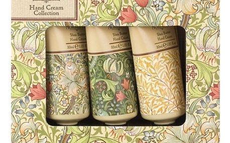 MORRIS & Co. Dárková sada mini krémů na ruce Golden Lily, zelená barva, žlutá barva, multi barva, plast, papír