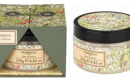 MORRIS & Co. Tělový peeling Golden Lily 250 ml, zelená barva, žlutá barva, multi barva, plast
