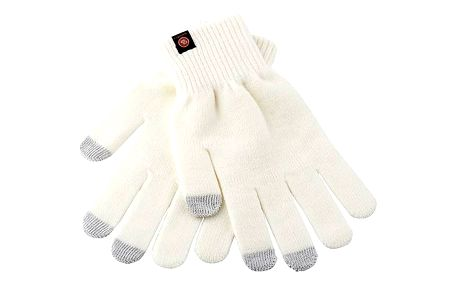Rukavice GoGEN pro dotykové displeje velikost M (GOGRUKAVICEMC) krémová barva + Doprava zdarma