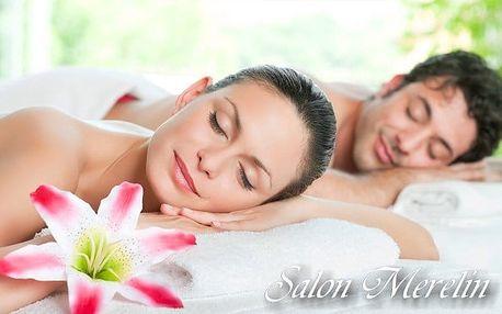 2hodinové wellness pro 2 s masáží, zábalem i infrasaunou ve salonu Merelin v Praze