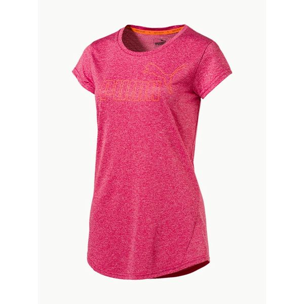 Tričko Puma ACTIVE ESS No.1 Tee W BRIGHT ROSE Heathe Červená
