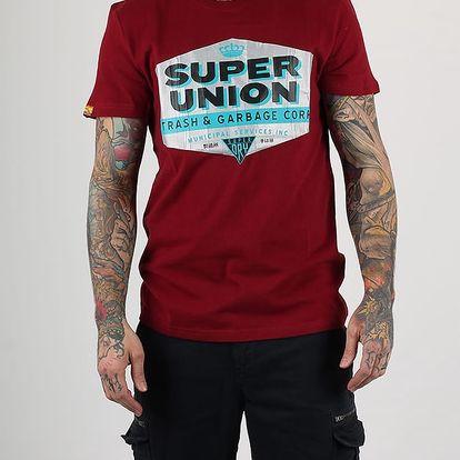 Tričko Superdry REWORKED CLASSICS TEE Červená