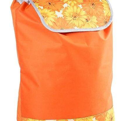 Nákupní taška na kolečkách Daisy oranžová