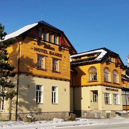 Hotel Bauer *** přímo u SKI areálu v Beskydech s polopenzí a wellness