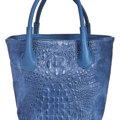 Modrá kožená kabelka Massimo Castelli Laurita - doprava zdarma!