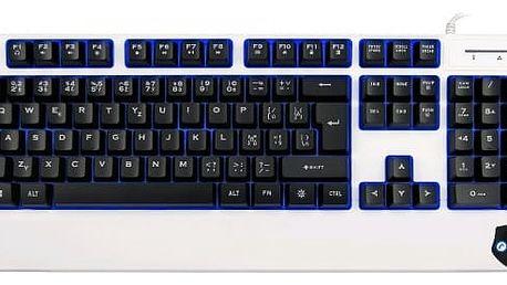 Klávesnice C-TECH Cadmus(GKB-14BW),3barvy podsvícení,černo-bílá,