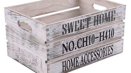 Orion Dřevěná bedýnka Sweet Home, 34 x 24 cm