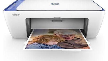 Tiskárna multifunkční HP DeskJet 2630 All-in-One (V1N03B#BHE) bílá/modrá Software F-Secure SAFE 6 měsíců pro 3 zařízení v hodnotě 979 Kč