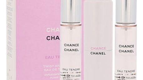 Chanel Chance Eau Tendre 3x 20 ml 20 ml EDT Twist and Spray W