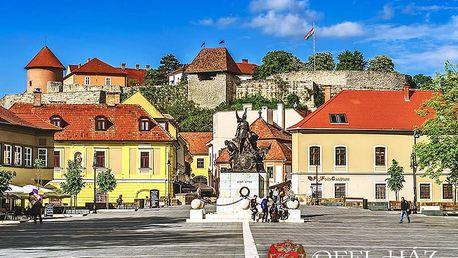 Maďarský Eger romanticky v centru města s neomezenou konzumací kvalitního vína i polopenzí + termální lázně na dosah