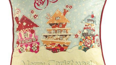 Vánoční povlak na polštář Apolena Comfort Merry, 43x43cm