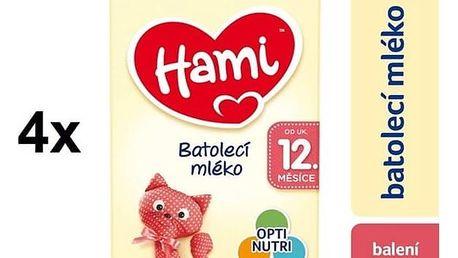 Kojenecké mléko Hami 3 od ukočeného 12. měsíce, 600g x 4ks + Doprava zdarma