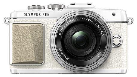Digitální fotoaparát Olympus PEN E-PL7 + 14-42 Pancake Zoom bílý + DOPRAVA ZDARMA