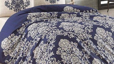 BedTex Bavlněné povlečení Estella modrá, 140 x 220 cm, 2 x 70 x 90 cm, 2 ks 50 x 70 cm
