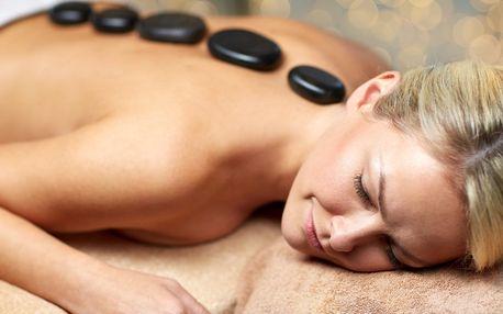 Zahřejte se: blahodárná masáž lávovými kameny - záda, šíje a ruce nebo celé tělo
