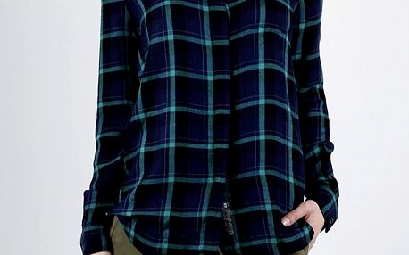 Košile Superdry SUPERSIZED CHECKED SHIRT Modrá