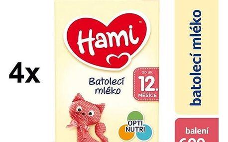Kojenecké mléko Hami 3 od ukočeného 12. měsíce, 600g x 4ks + DÁREK