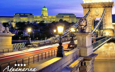 Dokonalá romantika: Budapešť v 4* botelu na hladině Dunaje s lahví šampaňského i se snídaněmi