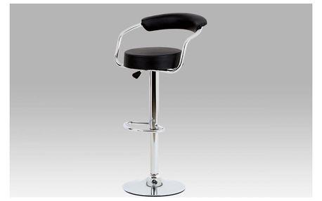 Barová židle černá koženka AUB-418 BK Autronic