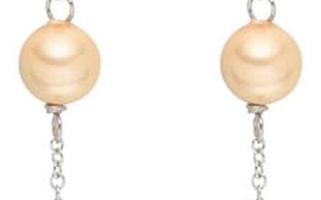 Perlové visící náušnice se zirkonem Pearls Of London Elegance, 9cm