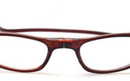 Dioptrické brýle na čtení s magnetem - 3 barvy