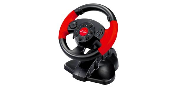 Volant Esperanza EG103 High Octane pro PC, PS1, PS2, PS3 + pedály (EG103) černý/červený + Doprava zdarma2